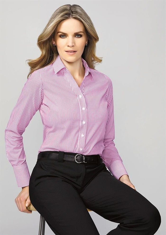 Biz Corporates Vermont Ladies Long Sleeve Shirt (40210)