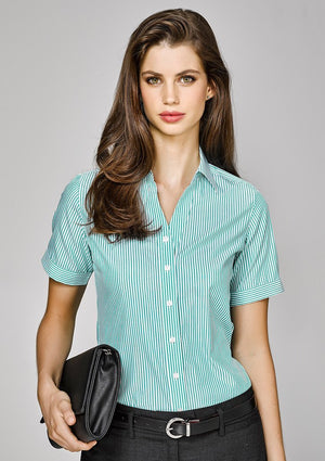 Biz Corporates-Biz Corporate Vermont Ladies Short Sleeve Shirt--Corporate Apparel Online - 1