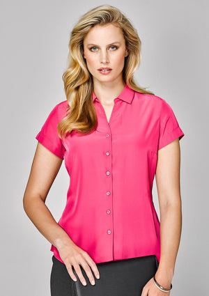 Biz Corporates-Biz Corporates Solanda Ladies Plain Short Sleeve Shirt--Corporate Apparel Online - 1