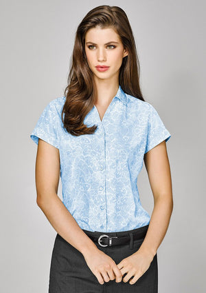 Biz Corporates-Biz Corporates Solanda Ladies Print Short Sleeve Shirt--Corporate Apparel Online - 1