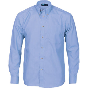 DNC Workwear-DNC Polyester Cotton Chambray L/S Business Shirt-M / Chambray-Uniform Wholesalers - 2