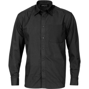 DNC Workwear-DNC Polyester Cotton L/S Business Shirt-M / Black-Uniform Wholesalers - 2