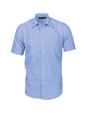 DNC Mens Premier Poplin Business Shirts - Short Sleeve (4151)