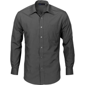 DNC Workwear-DNC Mens Premier Poplin L/S Business Shirts-39 / Slate-Uniform Wholesalers - 3