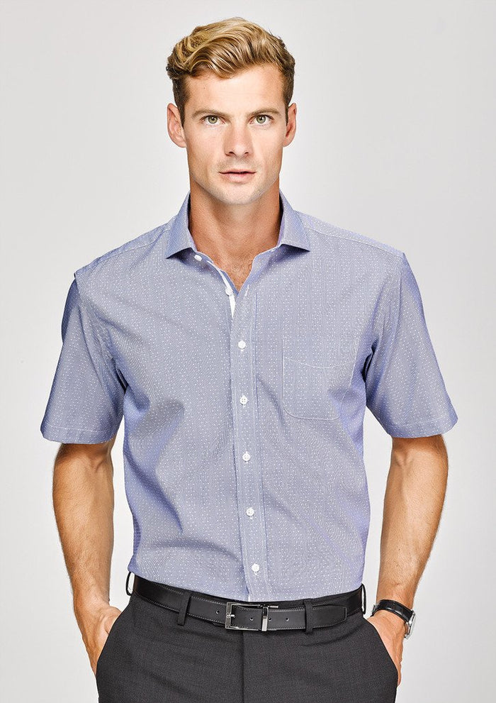 Biz Corporates Calais Mens Short Sleeve Shirt (41712)