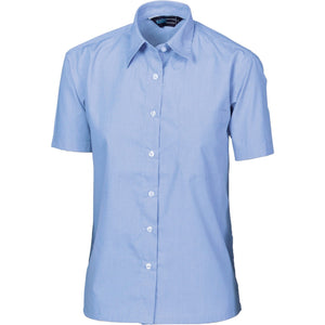 DNC Workwear-DNC Ladies Chambray Shirt, Short Sleeve-6 / Chambray-Uniform Wholesalers - 2