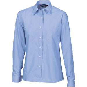 DNC Workwear-DNC Ladies Chambray Shirt, Long Sleeve--Uniform Wholesalers - 2