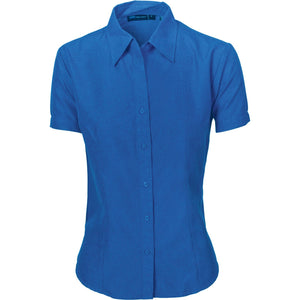 DNC Workwear-DNC Ladies Cool-Breathe S/S Shirt-6 / Royal Blue-Uniform Wholesalers - 2