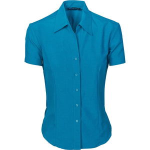 DNC Workwear-DNC Ladies Cool-Breathe S/S Shirt-6 / Teal-Uniform Wholesalers - 3