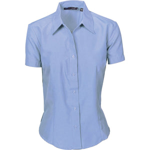 DNC Workwear-DNC Ladies Cool-Breathe S/S Shirt-6 / Light Blue-Uniform Wholesalers - 4