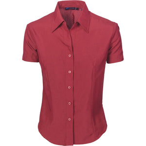 DNC Workwear-DNC Ladies Cool-Breathe S/S Shirt-6 / Red Cherry-Uniform Wholesalers - 5