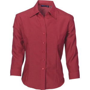 DNC Workwear-DNC Ladies Cool-Breathe 3/4 Sleeve Shirt-6 / Red Cherry-Uniform Wholesalers - 5