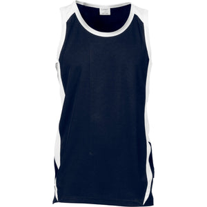 DNC Workwear-DNC Kids Cool-Breathe Contrast Singlet-Navy/White / 4-Uniform Wholesalers - 2