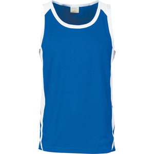 DNC Workwear-DNC Kids Cool-Breathe Contrast Singlet-Royal/White / 4-Uniform Wholesalers - 3
