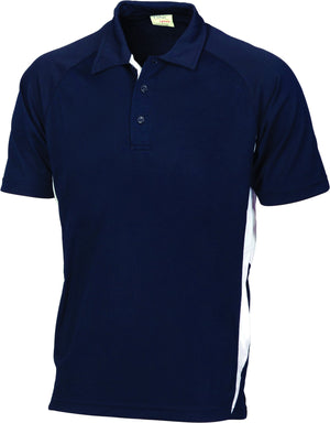 DNC Workwear-DNC Adult Cool-Breathe Side Panel Polo Shirt-Navy/White / S-Uniform Wholesalers - 3