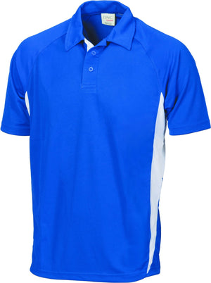 DNC Workwear-DNC Adult Cool-Breathe Side Panel Polo Shirt-Royal/White / S-Uniform Wholesalers - 5