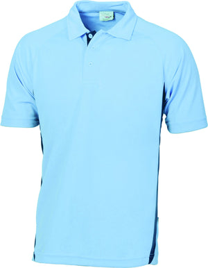 DNC Workwear-DNC Adult Cool-Breathe Side Panel Polo Shirt-Sky/Navy / S-Uniform Wholesalers - 6