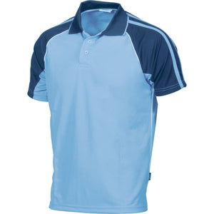 DNC Workwear-DNC Cool-Breathe Twin Stripe Contrast Raglan Polo-Sky/White/Navy / S-Uniform Wholesalers - 8