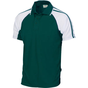 DNC Workwear-DNC Cool-Breathe Twin Stripe Contrast Raglan Polo-Green/Navy/White / S-Uniform Wholesalers - 4