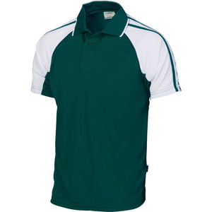 DNC Workwear-DNC Kids Cool-Breathe Twin Stripe Contrast Raglan Polo-10 / Green/Navy/White-Uniform Wholesalers - 7
