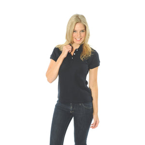DNC Workwear-DNC Ladies Cotton Rich New York Polo-Navy / 8-Uniform Wholesalers - 3