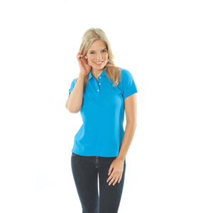 DNC Workwear-DNC Ladies Cotton Rich New York Polo-Cyan Blue / 8-Uniform Wholesalers - 5