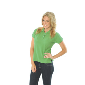 DNC Workwear-DNC Ladies Cotton Rich New York Polo-Cool Lime / 8-Uniform Wholesalers - 7