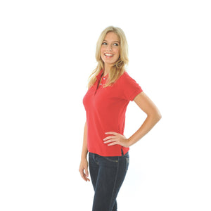 DNC Workwear-DNC Ladies Cotton Rich New York Polo-Red / 8-Uniform Wholesalers - 10