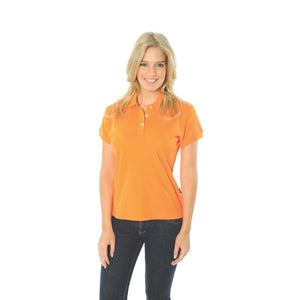 DNC Workwear-DNC Ladies Cotton Rich New York Polo-Orange / 10-Uniform Wholesalers - 11