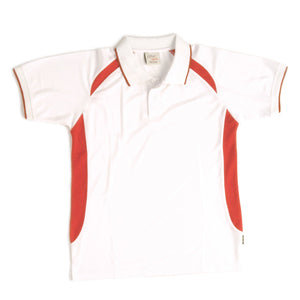DNC Workwear-DNC Kids Air Flow Contrast Raglan Mesh Polo-6 / White/Red-Uniform Wholesalers - 10