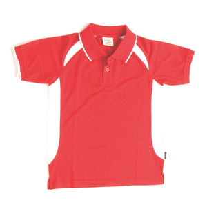 DNC Workwear-DNC Kids Air Flow Contrast Raglan Mesh Polo-6 / Red/White-Uniform Wholesalers - 12