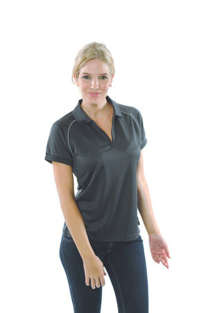 DNC Workwear-DNC Ladies Cool Breathe Rome Polo-Slate / Silver Grey / 8-Uniform Wholesalers - 6