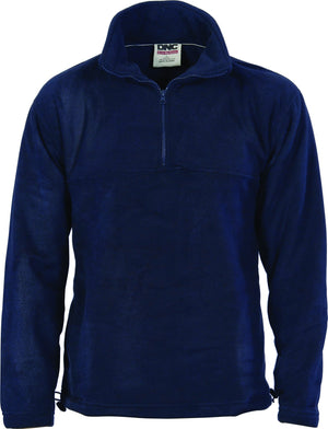 DNC Workwear-DNC Adult Half Zip Polar Fleece-Navy / 7XL-Uniform Wholesalers