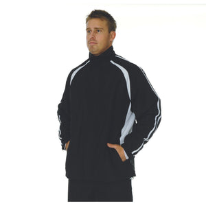 DNC Workwear-DNC Adults Ribstop Athens Track Top-Black/White / S-Uniform Wholesalers - 1