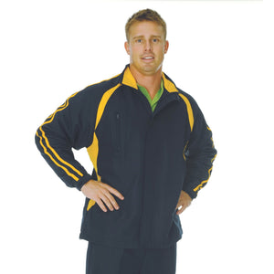 DNC Workwear-DNC Adults Ribstop Athens Track Top-Navy/Gold / S-Uniform Wholesalers - 4