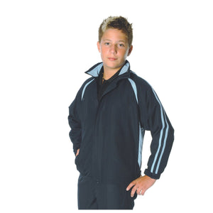 DNC Workwear-DNC Adults Ribstop Athens Track Top-Navy/Sky / S-Uniform Wholesalers - 5