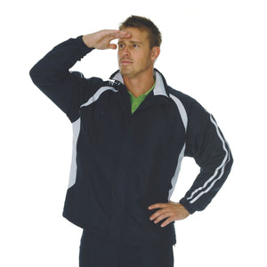 DNC Workwear-DNC Adults Ribstop Athens Track Top-Navy/White / M-Uniform Wholesalers - 6