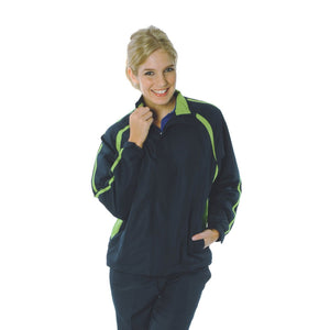 DNC Workwear-DNC Adults Ribstop Athens Track Top-Navy/Cool Lime / M-Uniform Wholesalers - 2