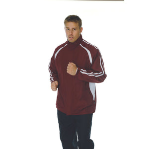 DNC Workwear-DNC Adults Ribstop Athens Track Top-Maroon/White / M-Uniform Wholesalers - 3