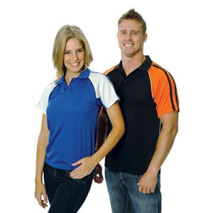 DNC Workwear-DNC Cool-Breathe Twin Stripe Contrast Raglan Polo--Uniform Wholesalers - 1