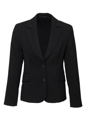Biz Corporates-Biz Corporates Ladies Short to Mid Length Jacket-Black / 4-Corporate Apparel Online - 2