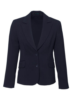 Biz Corporates-Biz Corporates Ladies Short to Mid Length Jacket-Navy / 4-Corporate Apparel Online - 6