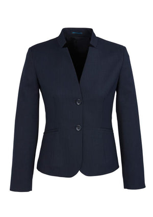 Biz Corporates-Biz Corporates Ladies Short Jacket with Reverse Lapel-Navy / 4-Corporate Apparel Online - 6