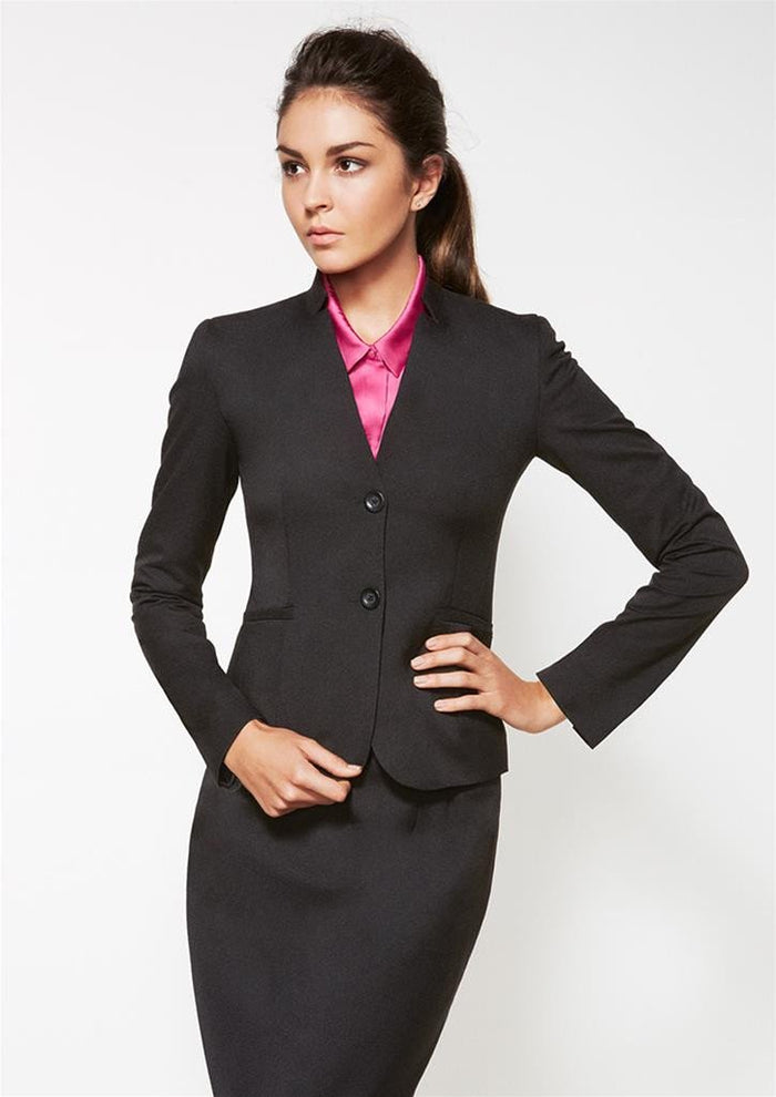 Biz Corporates Ladies Short Jacket with Reverse Lapel (60113)