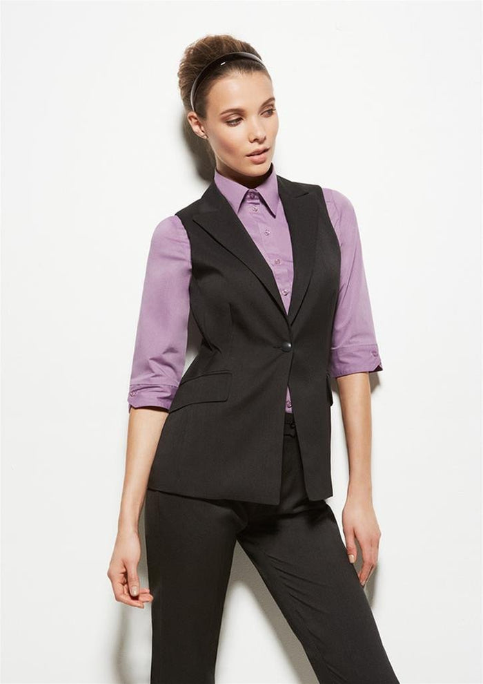 Biz Corporates Ladies Longline Sleeveless Jacket (60114)