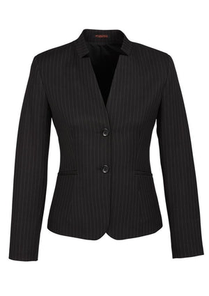 Biz Corporates-Biz Corporates Ladies Short Jacket with Reverse Lapel-Black / 4-Corporate Apparel Online - 2