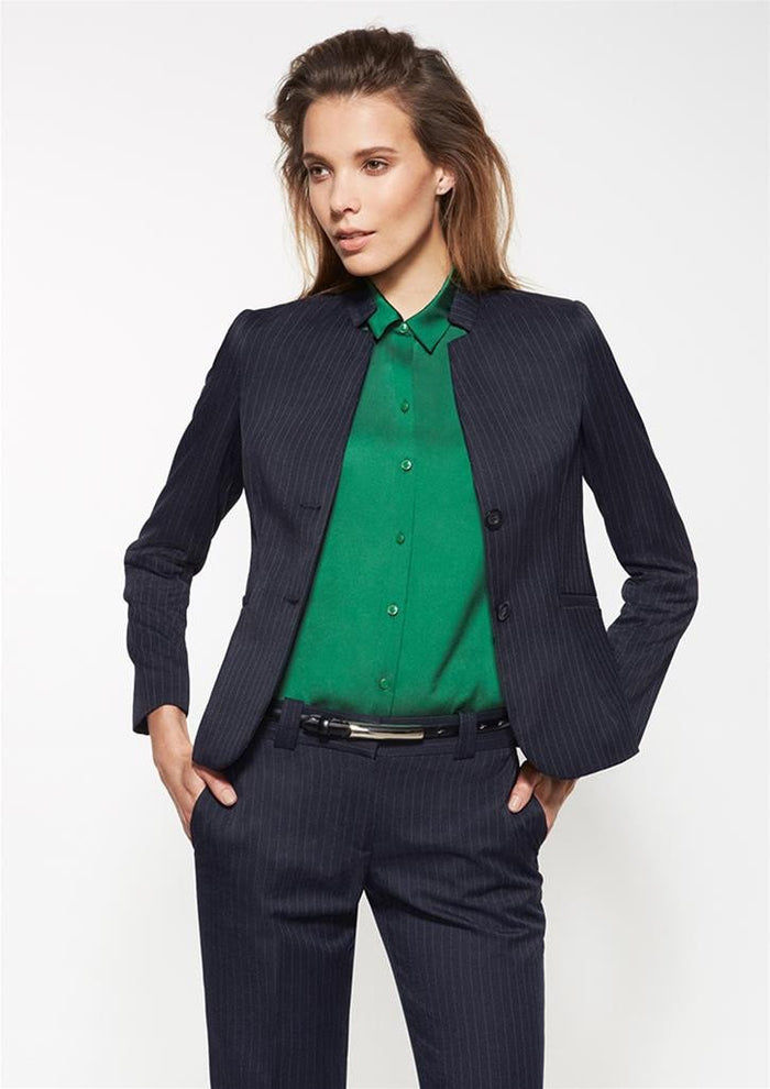 Biz Corporates Ladies Short Jacket with Reverse Lapel (60213)