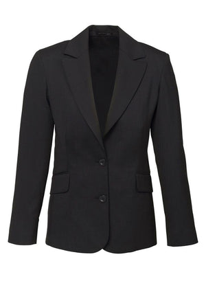 Biz Corporates-Biz Corporates Ladies Longerline Jacket-Charcoal / 4-Corporate Apparel Online - 4