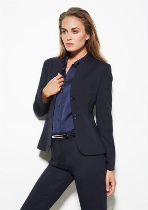 Biz Corporates-Biz Corporates Ladies Short Jacket with Reverse Lapel--Corporate Apparel Online - 1