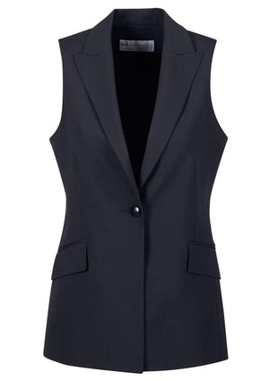 Biz Corporates-Biz Corporates Ladies longline Sleeveless Jacket-Navy / 4-Corporate Apparel Online - 6